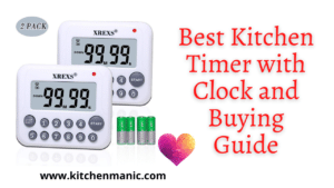 Kitchen timer with clock